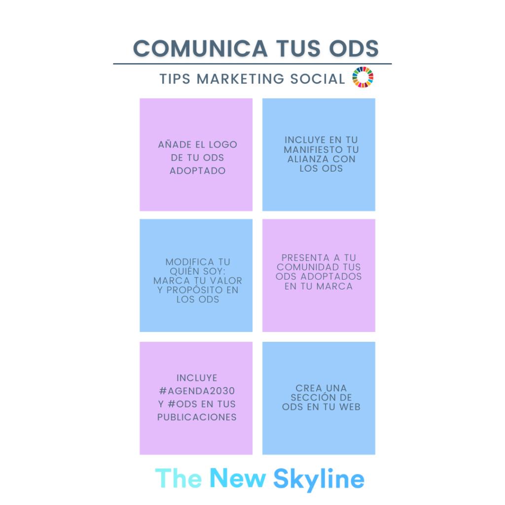 comunica tus ODS tips marketing social
